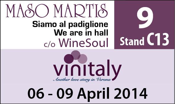Vinitaly 2014 Verona: Maso Martis con TRENTODOC e vini trentini presente!